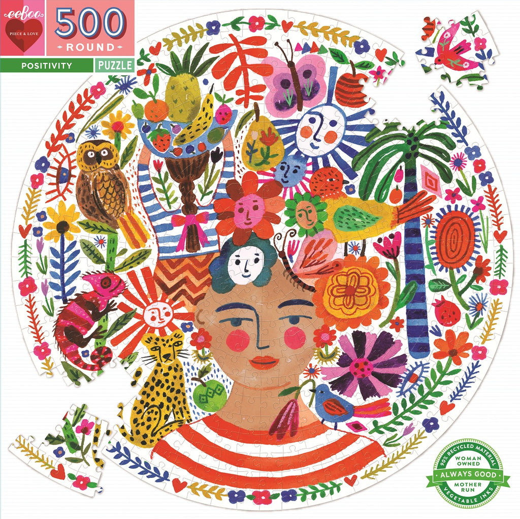 EeBoo | 500pc | Round | Positivity