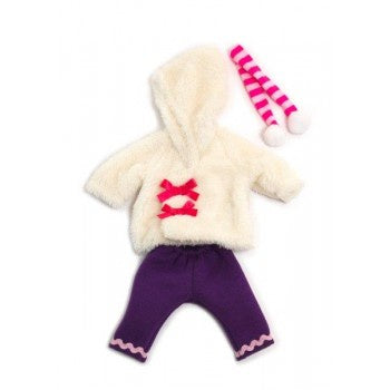 Miniland | 32cm | Purple Pants White Jacket Winter set