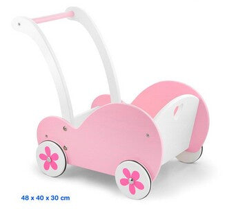 Viga | Doll's Buggy Pram Pink and White