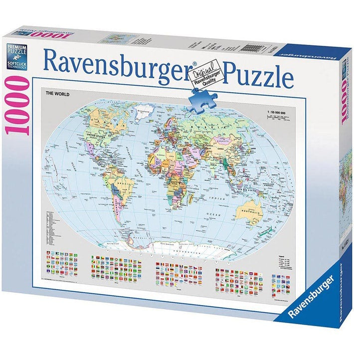 Ravensburger | 1000pc | 156528 Political World Map