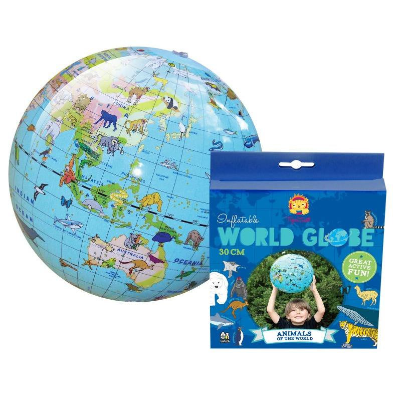 Tiger Tribe | Inflatable World Globe | 30cm Animals of the World