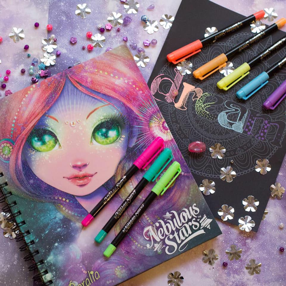 Nebulous Stars | Coloring Book | Black
