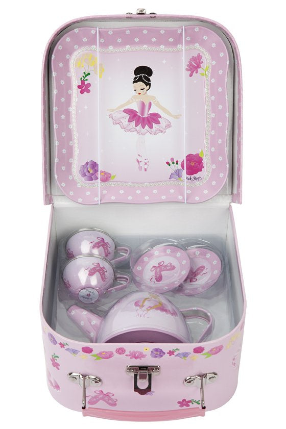 Pink Poppy | Ballerina Tea Set Tin | TEA503P
