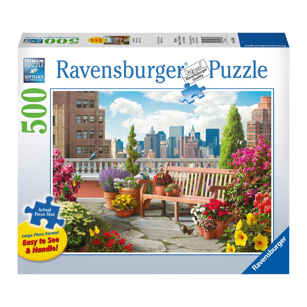 Ravensburger | Large Format | 500pc| 148684 Rooftop Garden