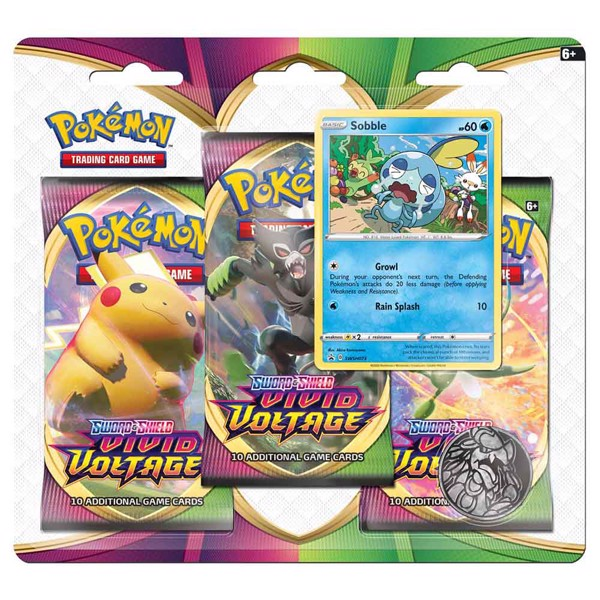 Pokemon | Three Blister pack | Sword and Shield | Vivid Voltage
