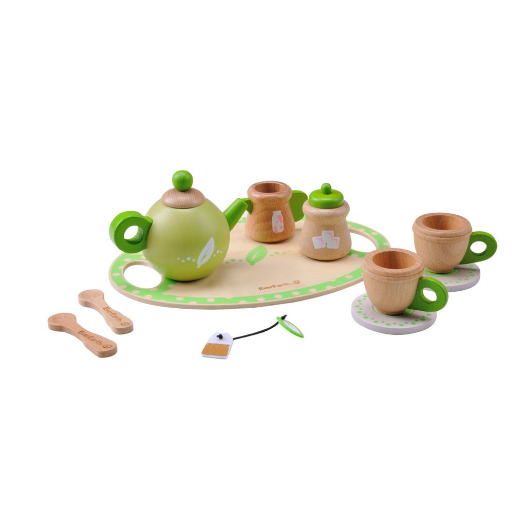Everearth | Wooden Tea Set