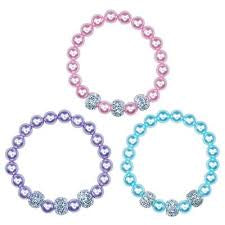 Pink Poppy | Pearl and Glitter Bead Bracelet BCF-408 | Various