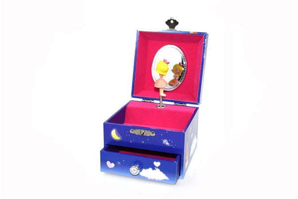 Unicorn Square Music Box | With Drawer |