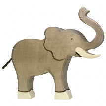 Holztiger | Elephant Small Trunk Raised | 80150