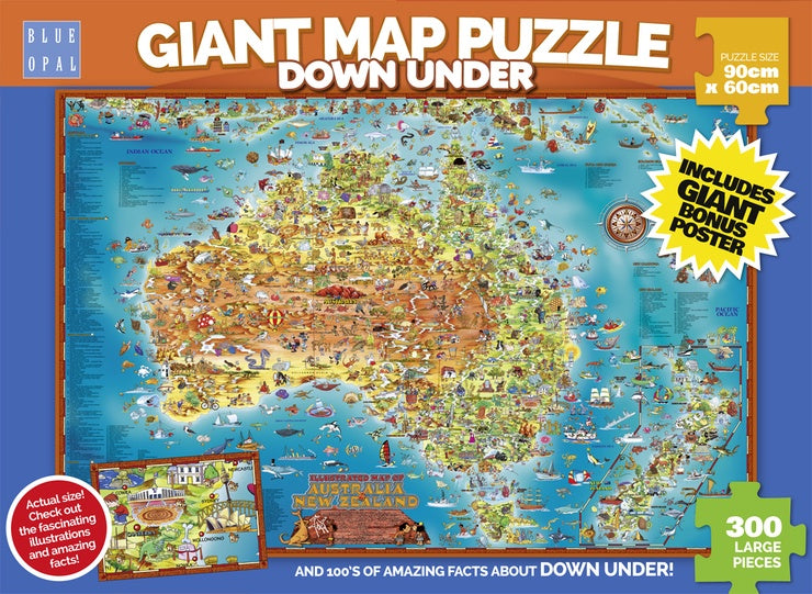 Blue Opal | Giant Map Puzzle Down Under