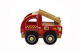 Boxed Vehicle | Wooden Fire Engine