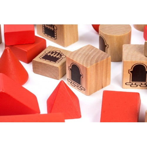 Miniland | Wooden Stacking Castle Block Set