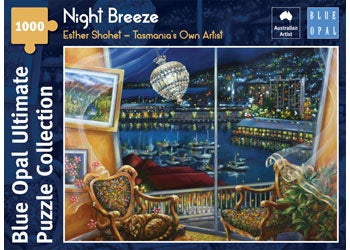 Blue Opal | 1000 pc | Esther Shohet | Tasmania's Own Artist | Night Breeze
