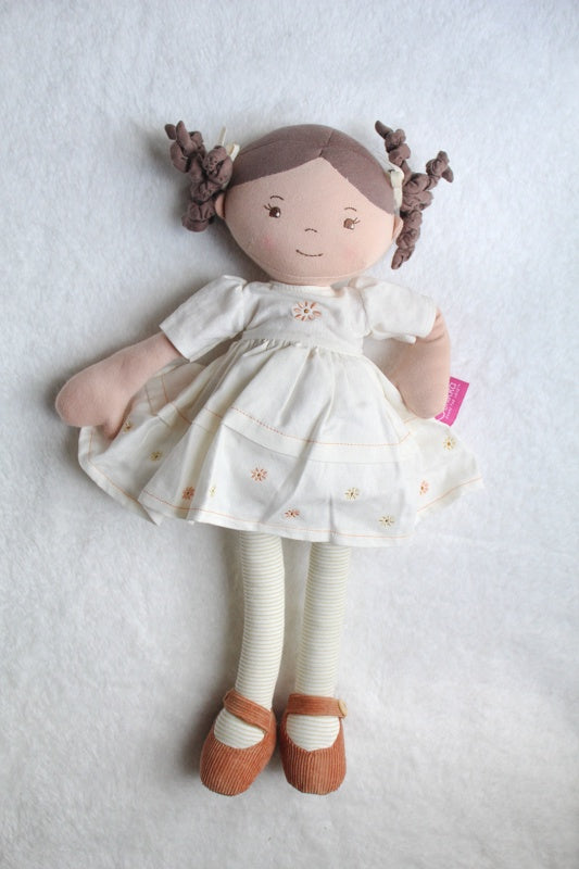 Bonikka Dolls | Cecilia Linen Doll Brown Hair