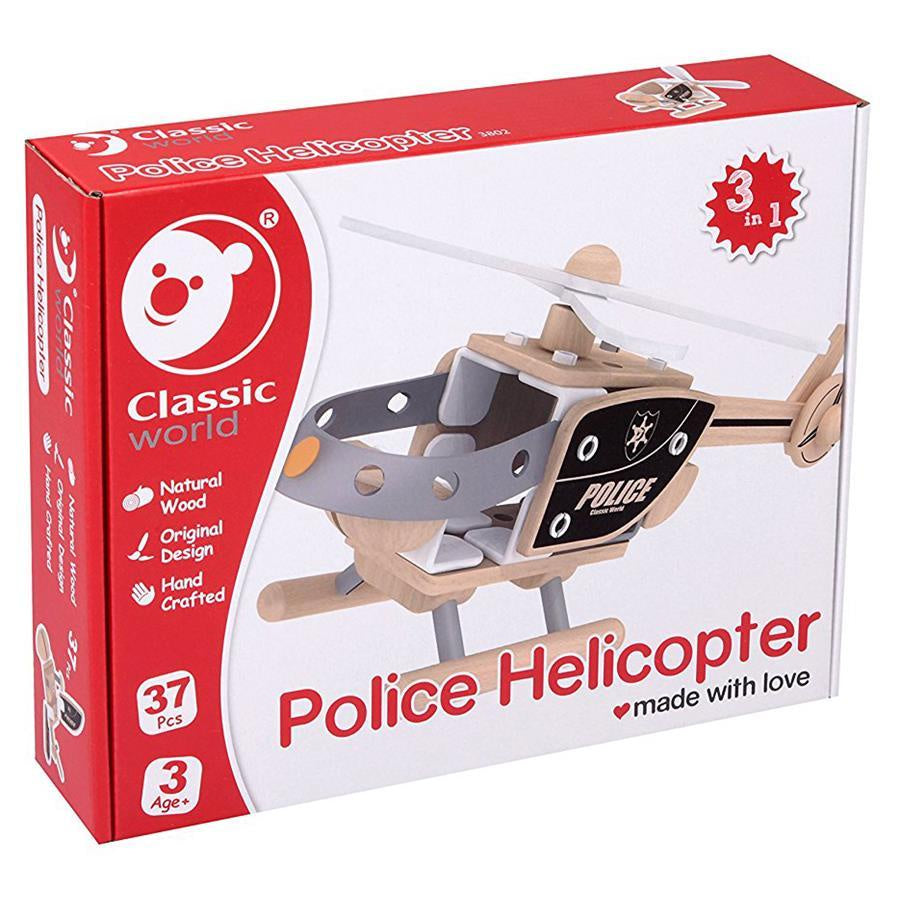 Classic World | Police Helicopter 3-in-1 | 37pc