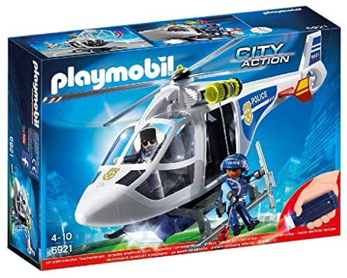Playmobil | City Action | 6921 Police Helicopter with LED Searchlight
