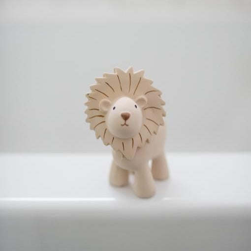 Tikiri Natural Rubber Teether | Zoo | Lion