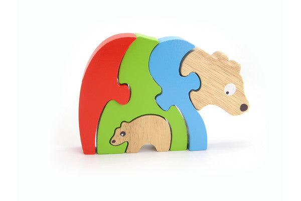 Wooden Stacking Jigsaw | Bear and Baby