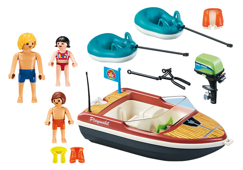 Playmobil | Family Fun | Speedboat with tube riders