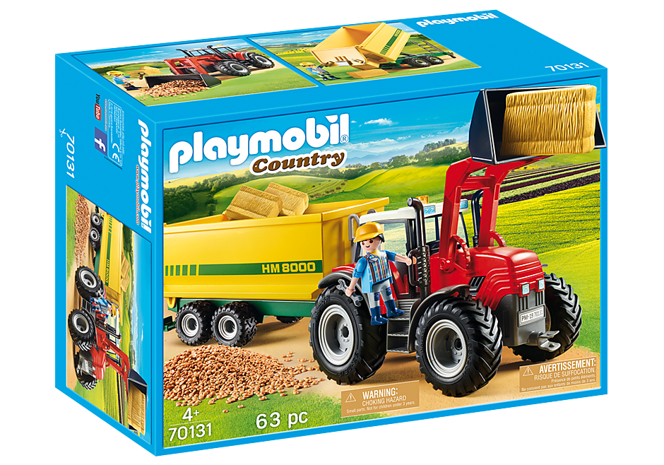 Playmobil | Country | 70131 Tractor with feed trailer