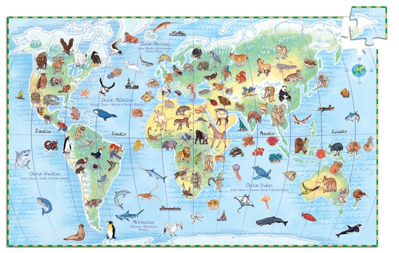 Djeco | 100pc | World Animals |  Observation Puzzle | DJ7420