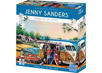 Blue Opal | 1000pc | Jenny Sanders | Kombi's of the Sixties | Camp out on the lake