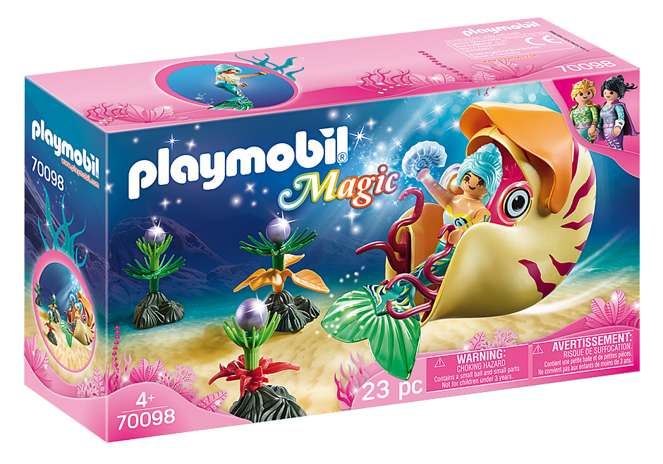 Playmobil | Magic | 70098 Mermaid with Sea Snail Gondola