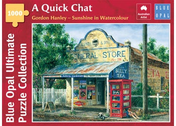 Blue Opal | 1000 pc | Gordon Hanley | Sunshine in Watercolour |  A Quick Chat