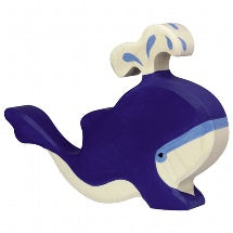 HOLZTIGER | Blue Whale with Water Fountain | 80195