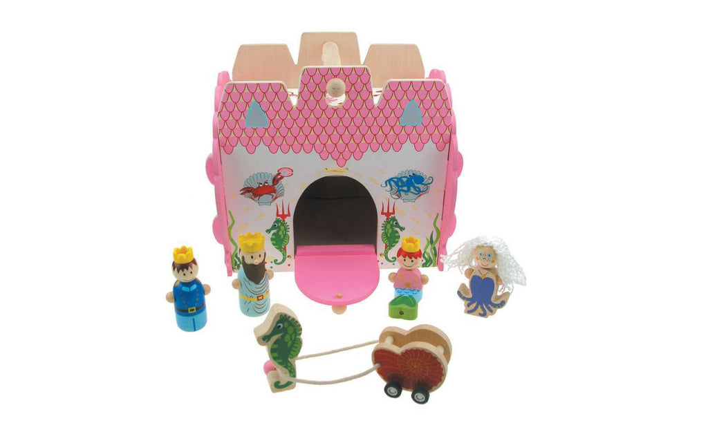 Wooden Mermaid Castle Playset