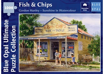 Blue Opal | 1000 pc | Gordon Hanley | Sunshine in Watercolour | Fish & Chips