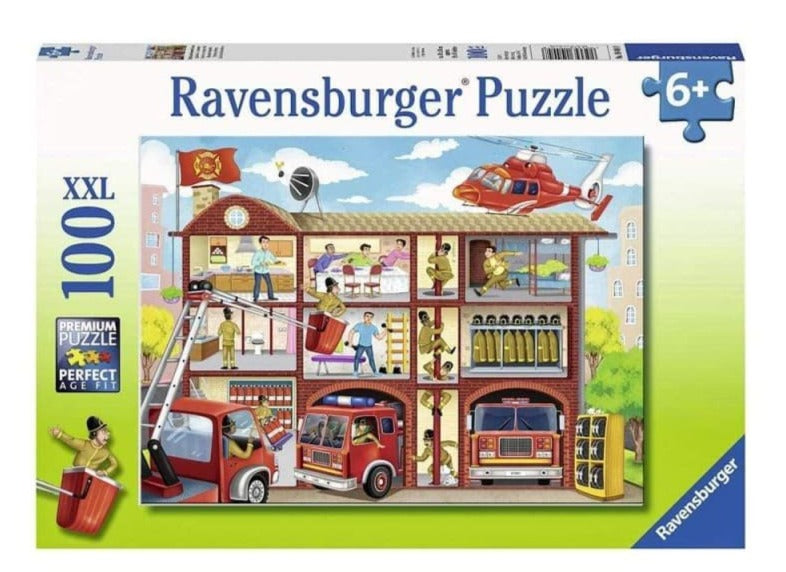 Ravensburger | 100xxl puzzle | Firehouse Frenzy 104048