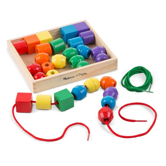 Melissa & Doug | Primary Lacing Beads