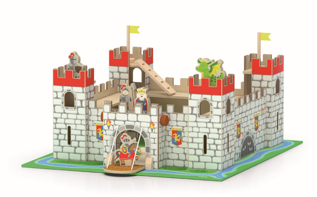 VIGA | Wooden Castle Play Set
