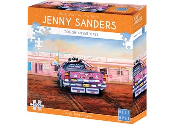 Blue Opal | 1000pc | Jenny Sanders | Pink Roadhouse | Tough Aussie Utes