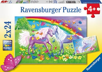 Ravensburger | 2x24pc | 091935 Rainbow Horses