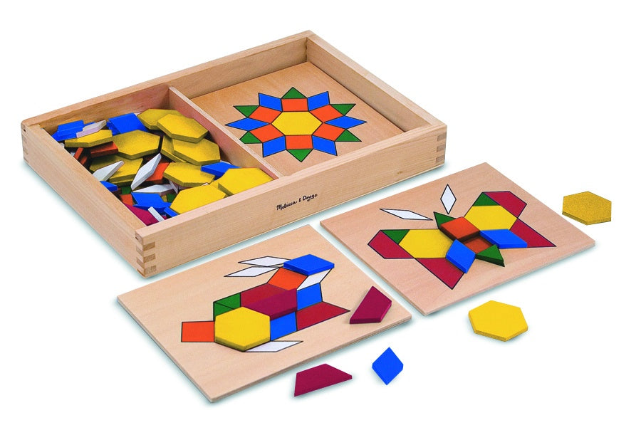 Melissa & Doug | Pattern Blocks & Boards