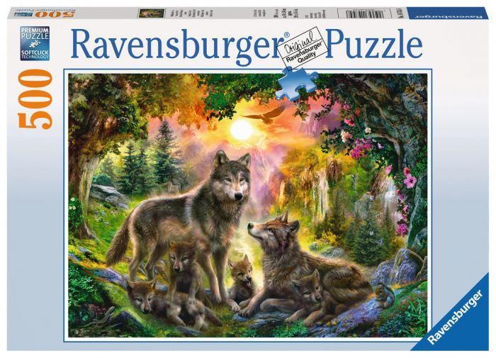 Ravensburger | 500pc | 147458 Wolf Family in Sunshine