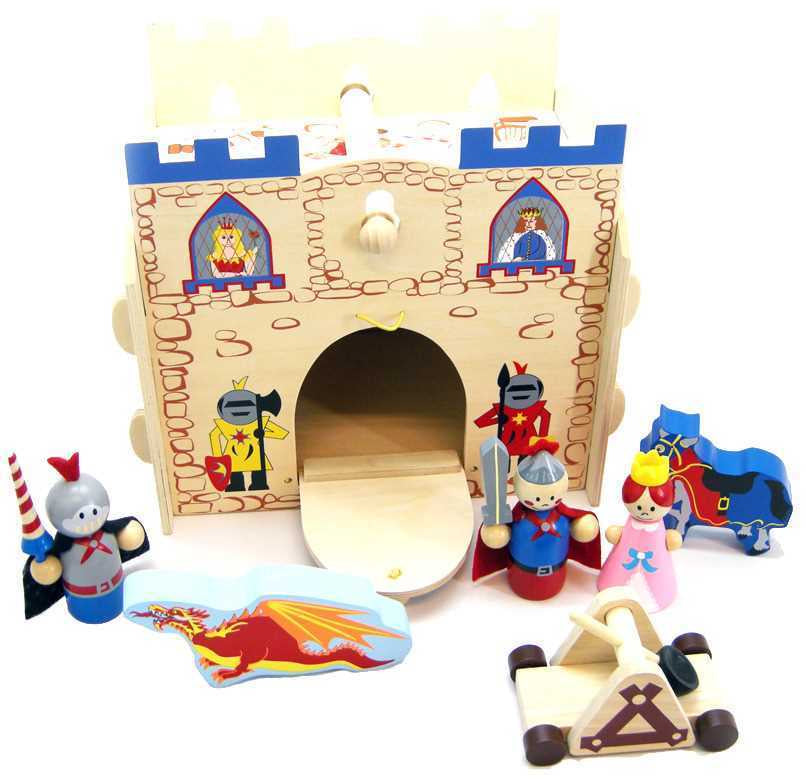 Wooden Kingdom Castle Playset
