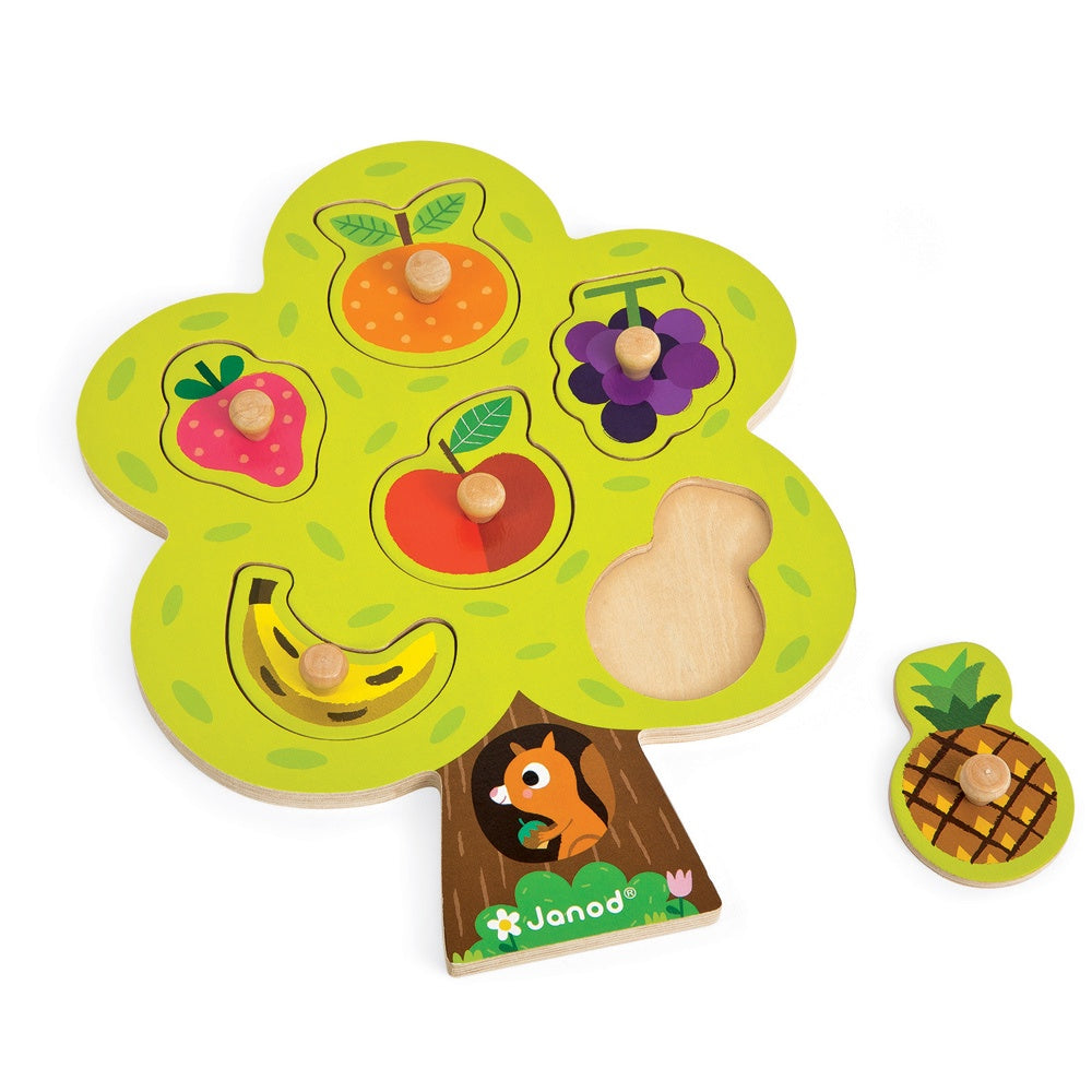 Janod | Peg Puzzle | Fruit Tree