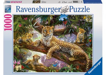 Ravensburger | 1000pc | Leopard Family 191482