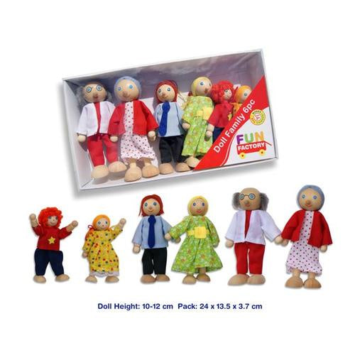 Fun Factory | 6 pc Wooden Doll Family