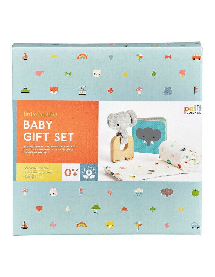 Petit Collage | Little Elephant Baby Gift Set