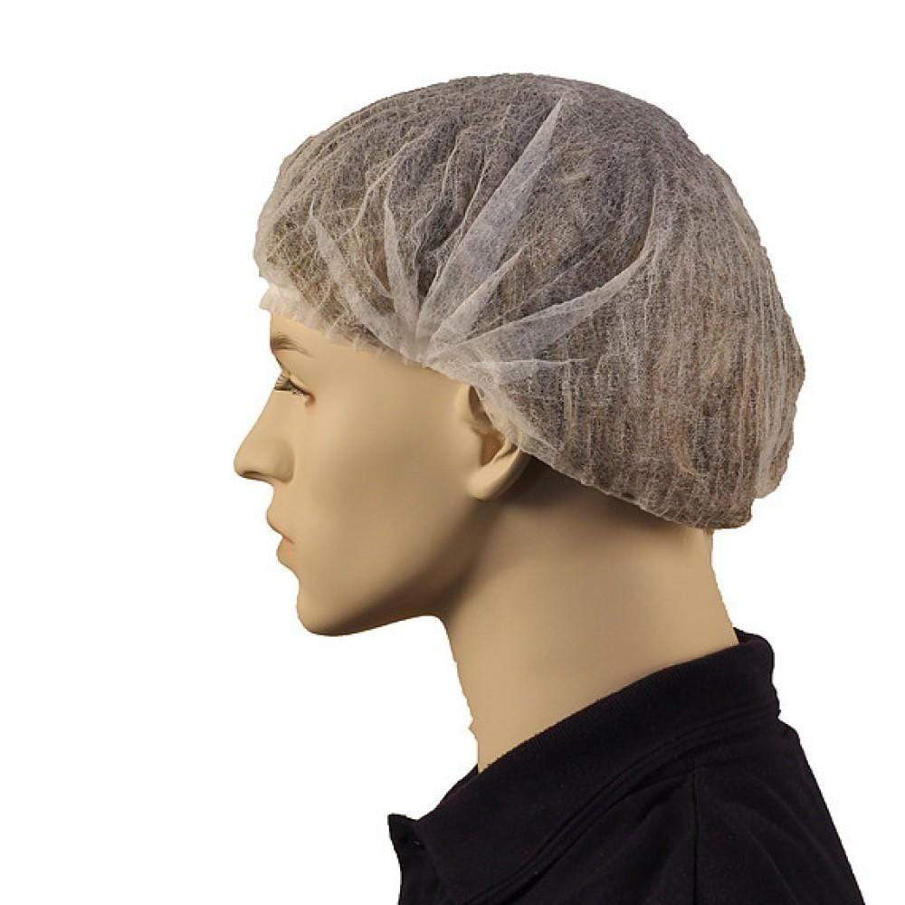 "ASW PPE Bouffant Hair Net Crimped - White (24"") (Carton of 1000) DBCW24"