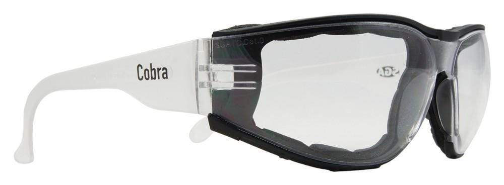 ASW PPE Cobra Safety Glasses - Clear Anti-fog Lens 12SCCFA