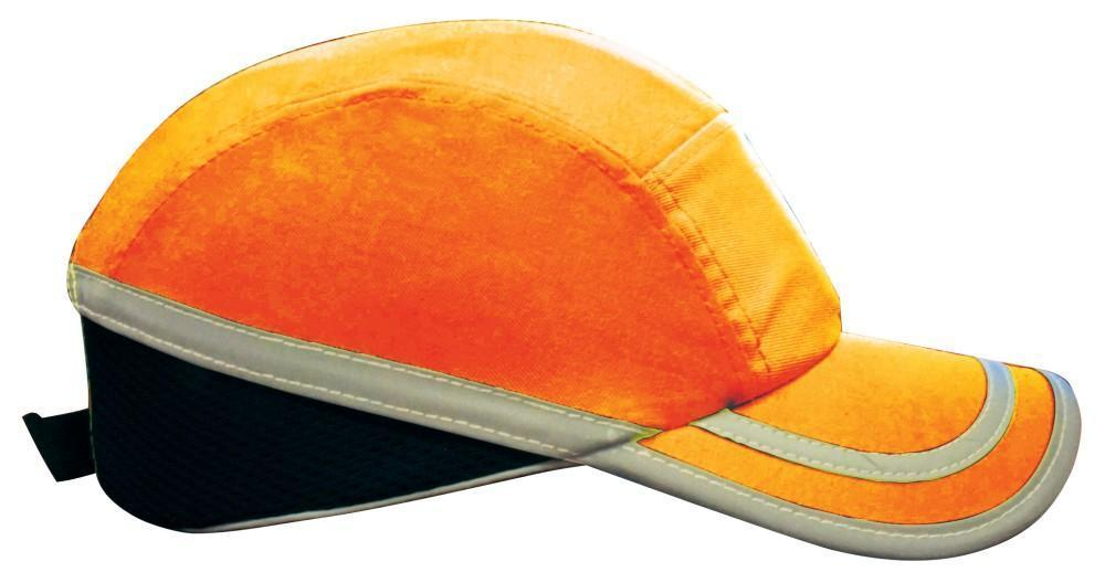 ASW PPE Dodge Bump Cap - Neon Orange with Silver Strip W91NOS