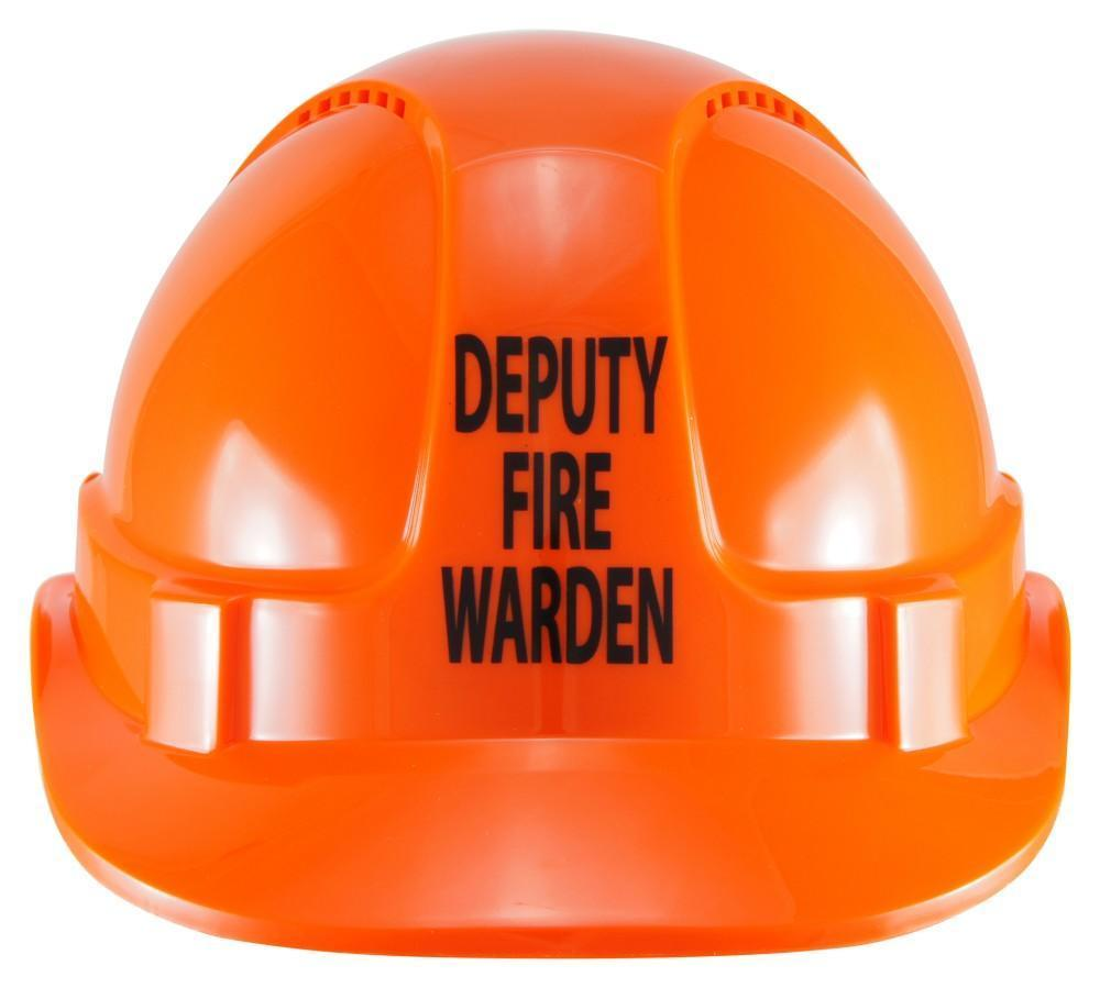 ASW PPE HammerHead Hard Hat with DEPUTY FIRE WARDEN print - Orange (Vented HM1ATODFW