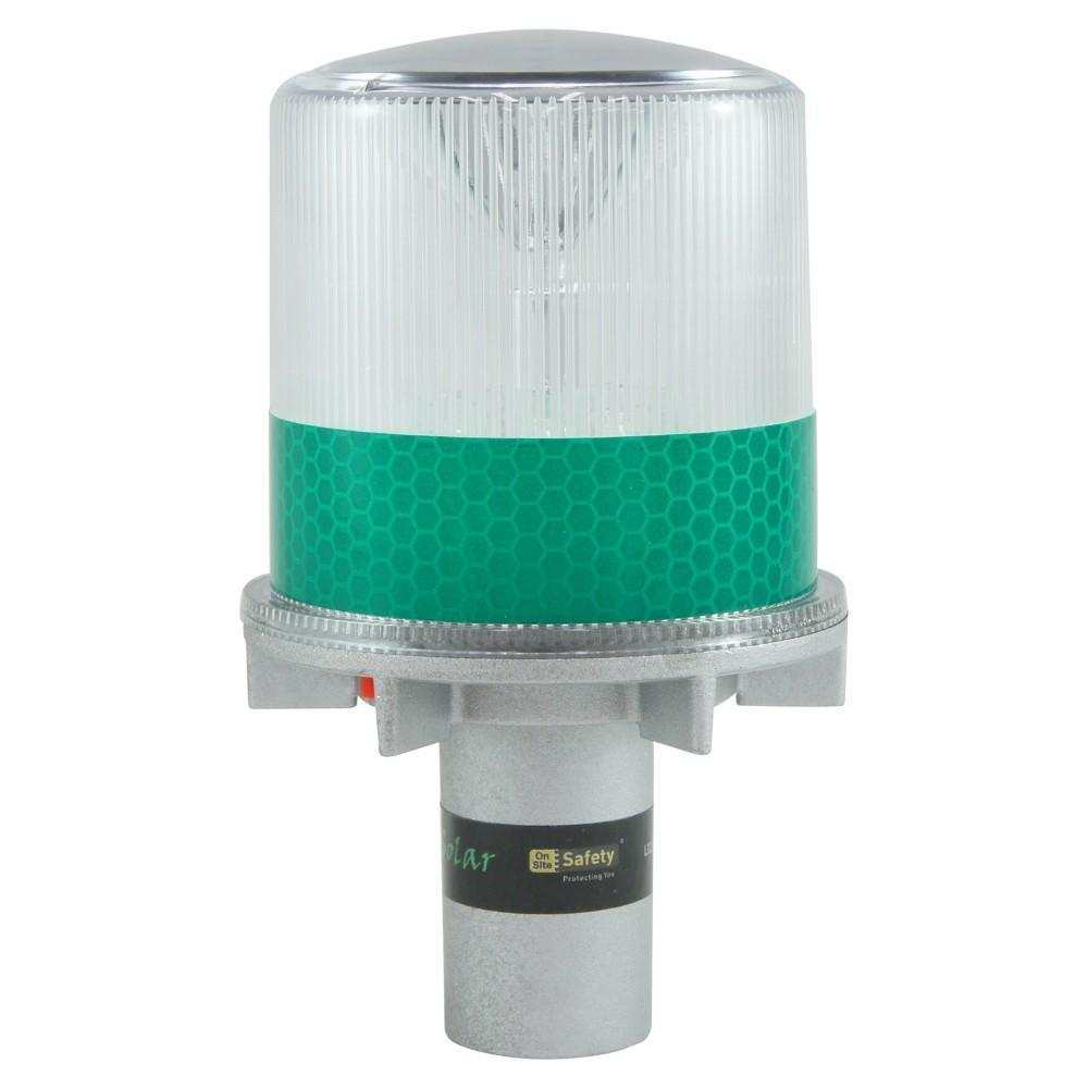 ASW PPE Night Star Photo Sensitive Warning Light (Solar Rechargeable) - Green LED L322GRS