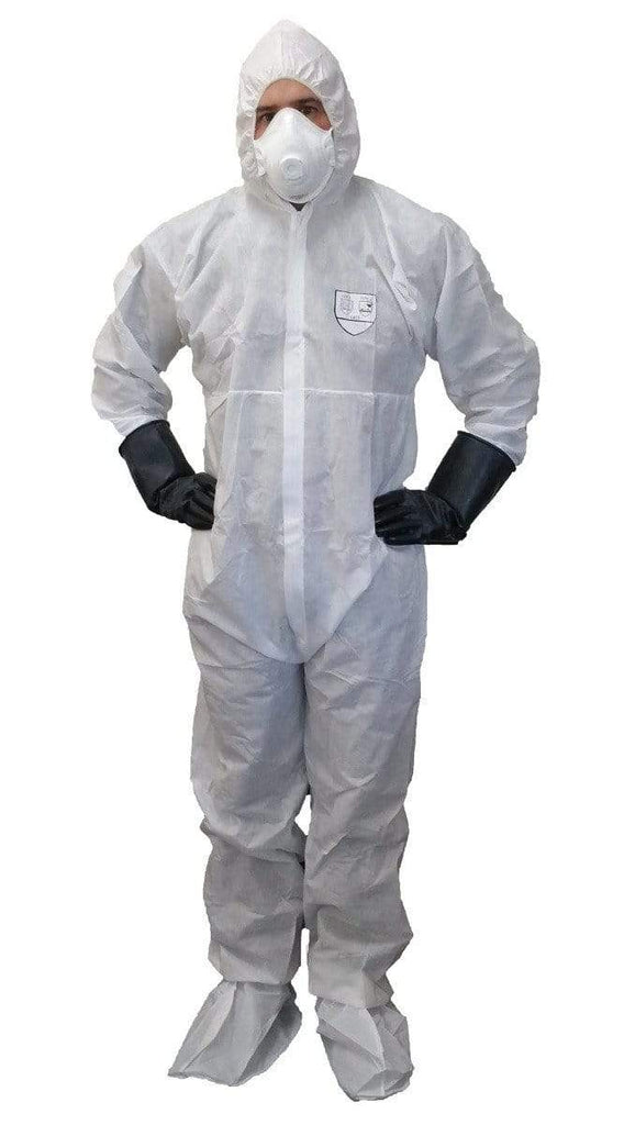 ASW PPE SMS Coverall - White Type 5/6 (Carton of 50) DCSMSW