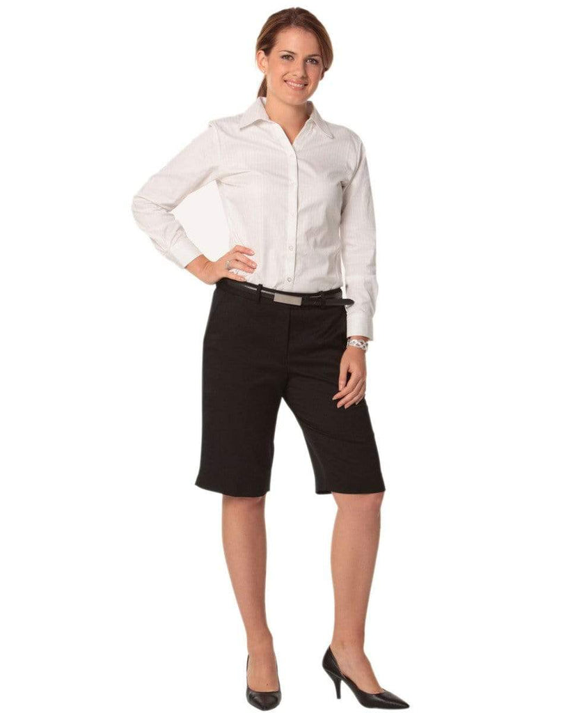 Benchmark Corporate Wear BENCHMARK Women's Poly/Viscose Stretch Knee Length Flexi Waist Shorts M9441